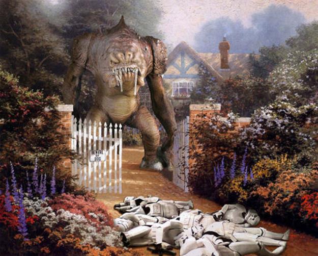 Персонажи «Звездных войн» на пейзажах Томаса Кинкейда