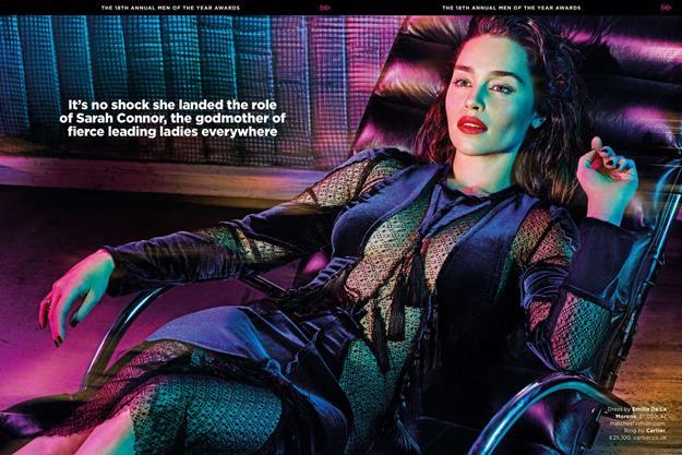 Эмилия Кларк, актриса «Игры престолов», поразила своими формами в журнале GQ Великобритания