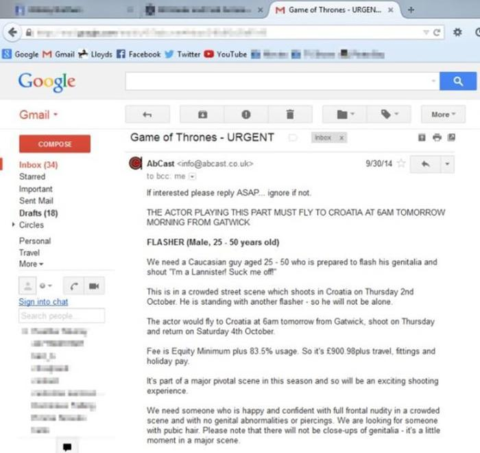 Как искали актера на роль нудиста в сериале «Игра престолов»